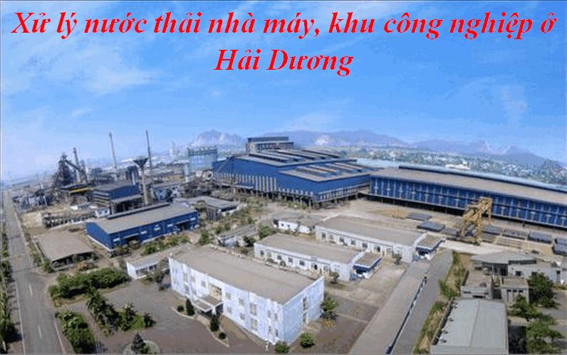xử lý nước thải nhà máy khu công nghiệp ở Hải Dương
