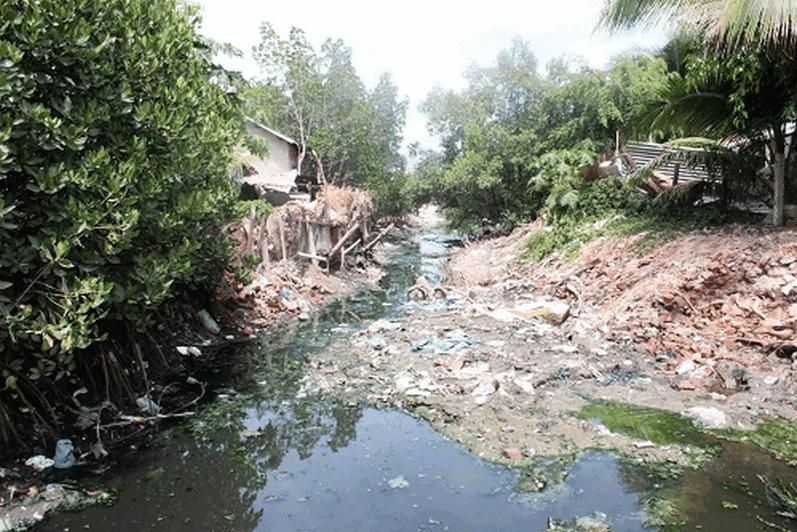 ô nhiễm nước thải làng nghề dệt nhuộm