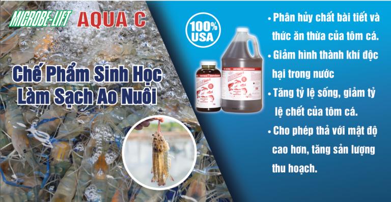 Microbe-Lift AQUA C hieu qua trong lam sach ao nuoi thuy san
