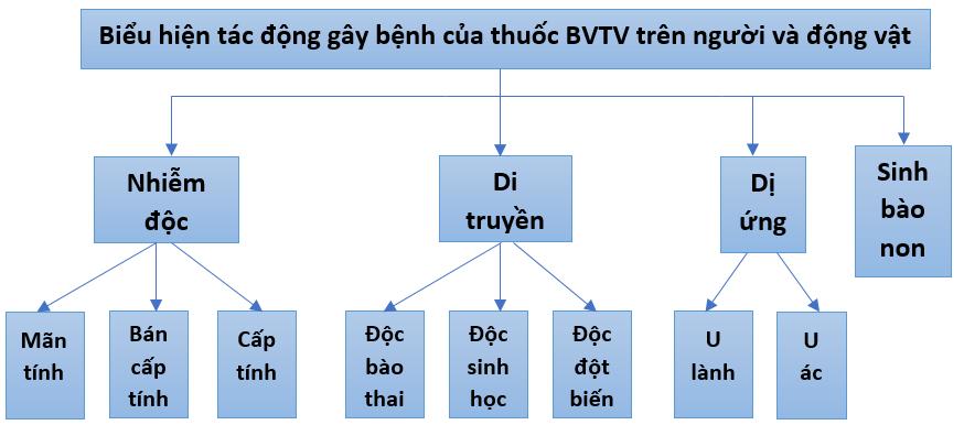 Những tác hại của hóa chất BVTV đối với con người