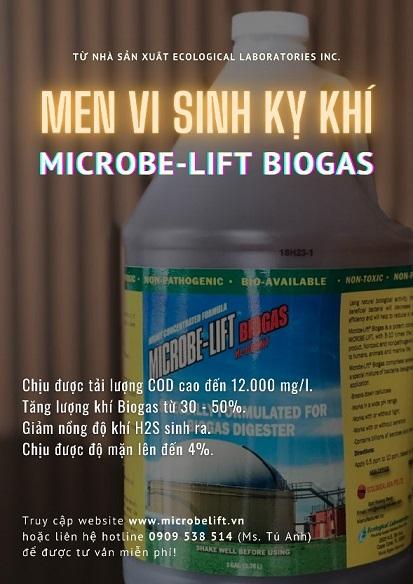 Men vi sinh ky khi Microbe-Lift BIOGAS