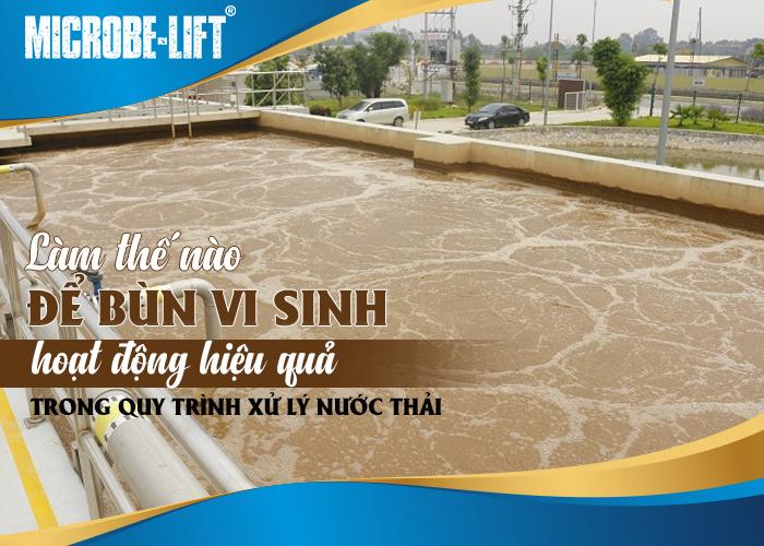 sử dụng bùn vi sinh hoạt động hiệu quả trong quy trình xử lý nước thải