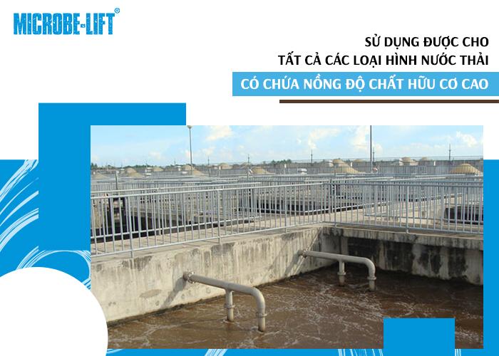 ử dụng được cho tất cả các loại hình nước thải có chứa nồng độ chất hữu cơ cao.