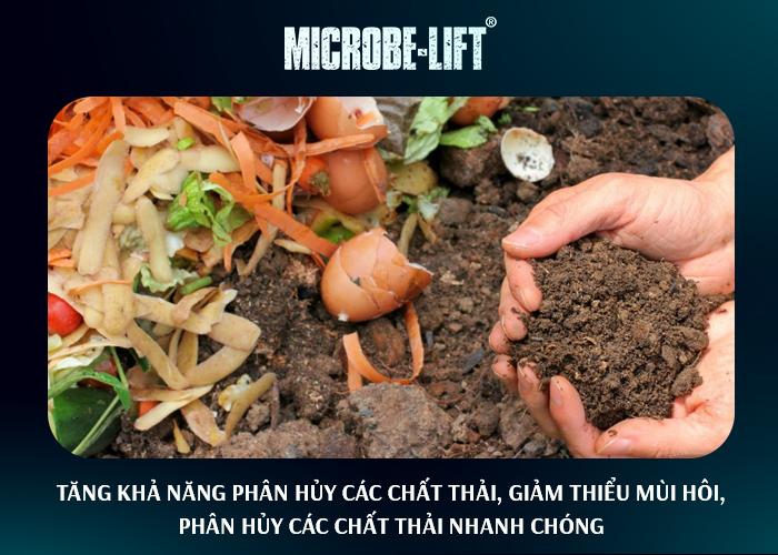 Tăng khả năng phân hủy các chất thải, giảm thiểu mùi hôi,