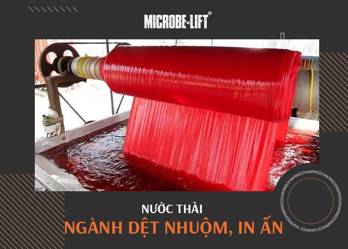 Nước thải ngành dệt nhuộm, in ấn