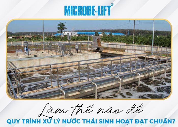 Làm thế nào để quy trình xử lý nước thải sinh hoạt