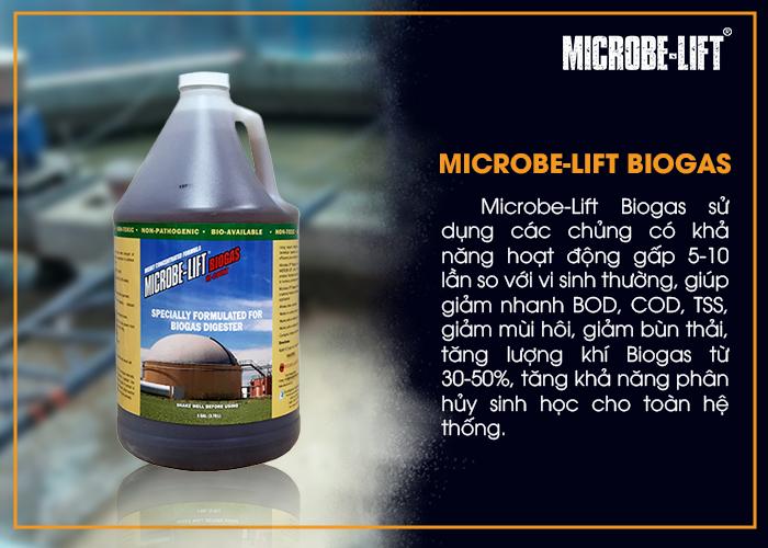Microbe-Lift Biogas xử lý nước thải có độ măn cao