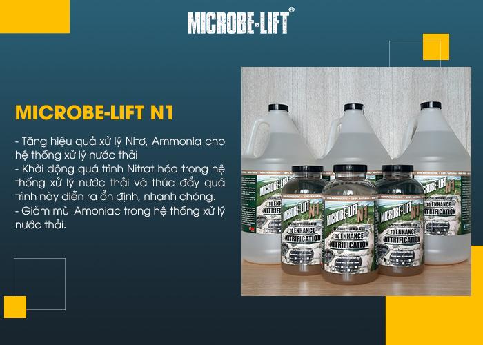 Microbe-Lift N1 có vai trò: Tăng hiệu quả xử lý Nitơ, Ammonia cho hệ thống xử lý nước t