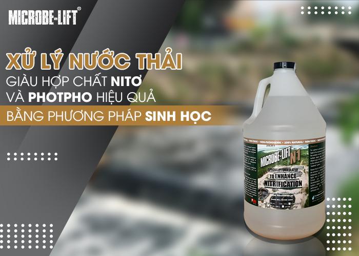 Phương pháp xử lý nước thải giàu hợp chất Nitơ và Photpho hiệu quả