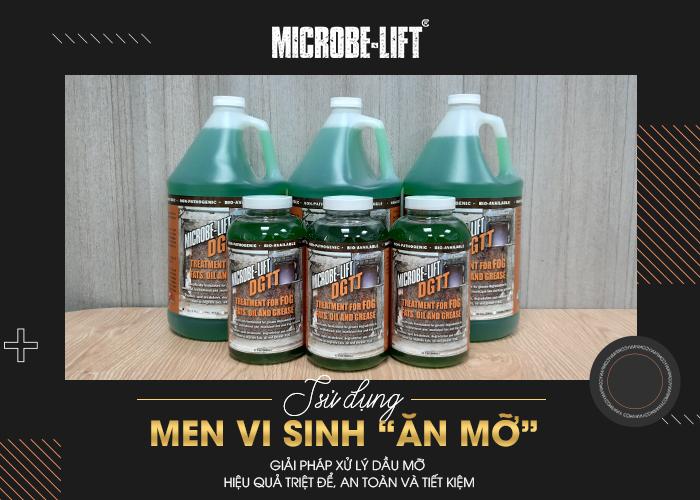men vi sinh Microbe-Lift DGTT xử lý dầu mỡ hiệu quả