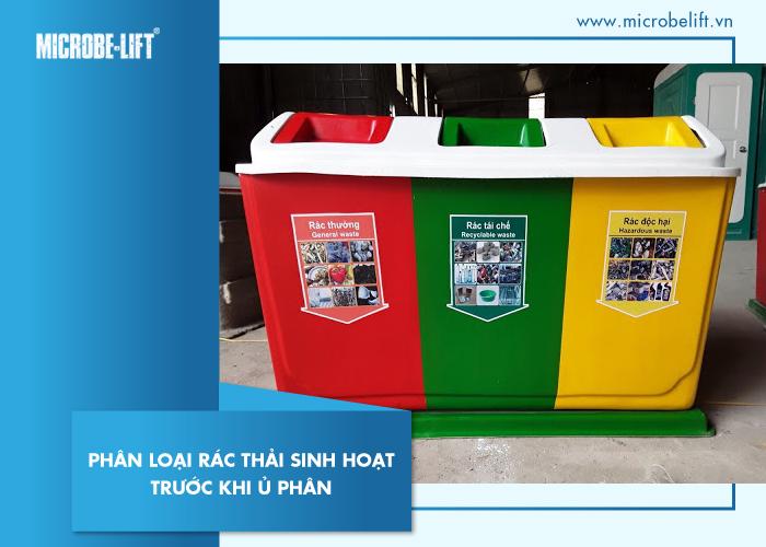 Phân loại rác thải sinh hoạt trước khi ủ phân
