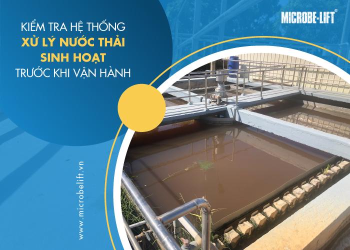 nuôi cấy vi sinh xử lý nước thải sinh hoạt